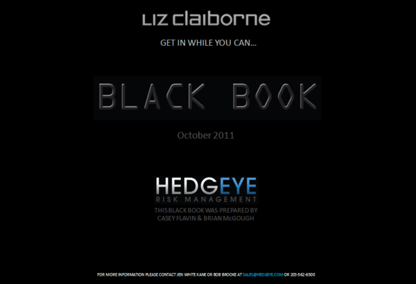 LIZ: Black Book Available - LIZ BB Cover