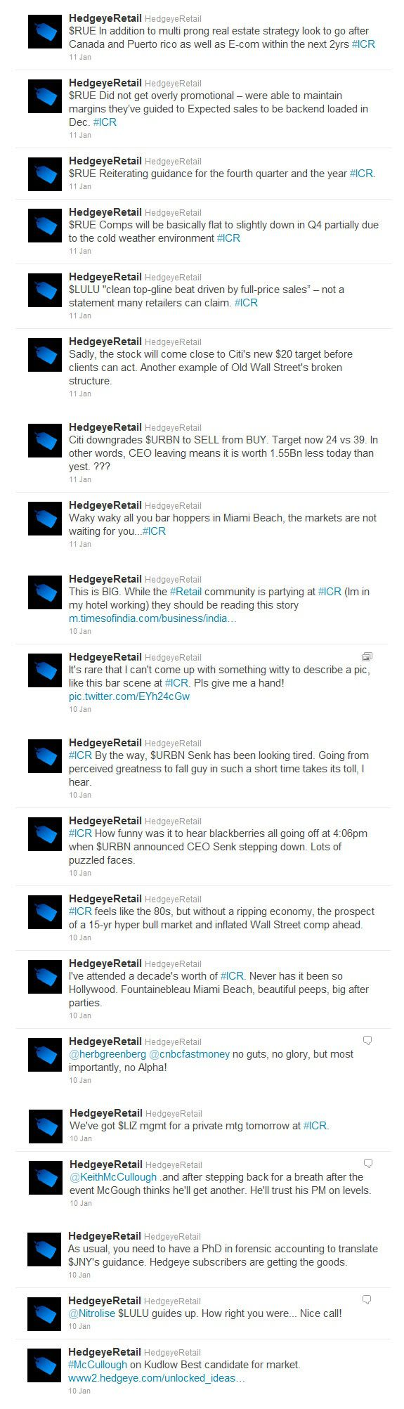 @HedgeyeRetail #ICR (Updated) - TWEET image 3