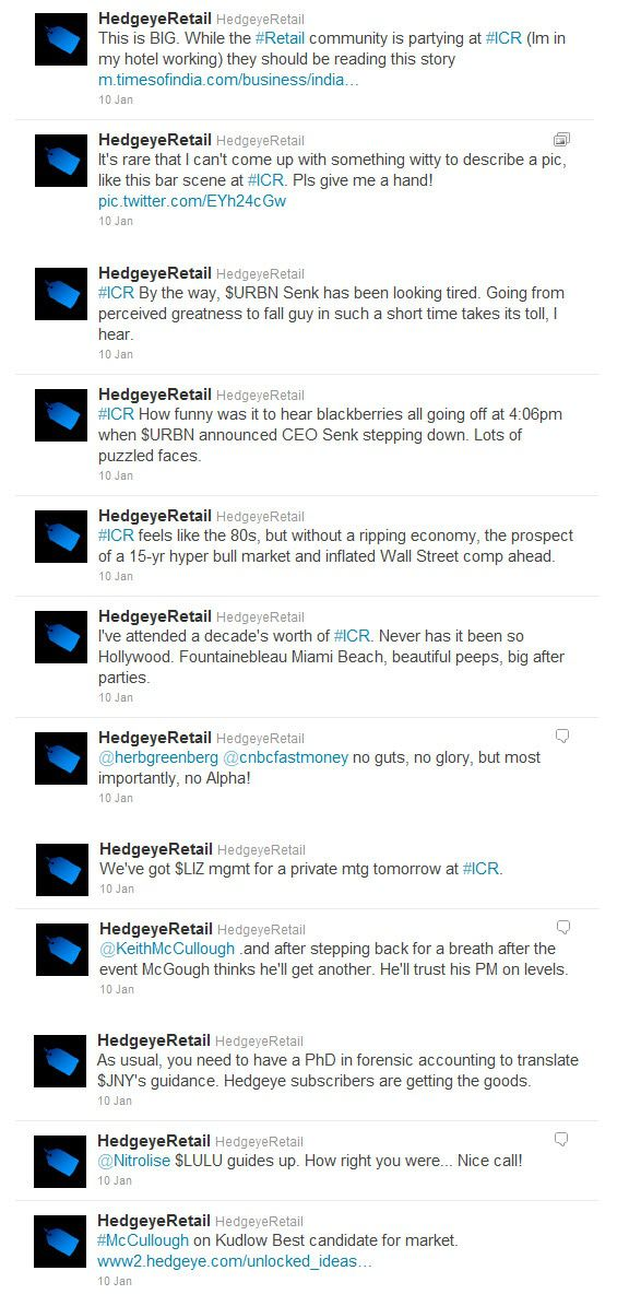 @HedgeyeRetail #ICR (Updated) - TWEET image 5