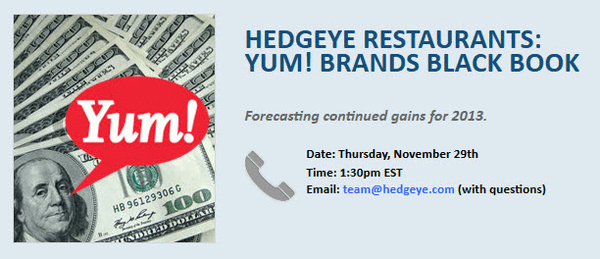 YUM! BRANDS BLACK BOOK - YUM BB
