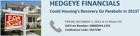 CONFERENCE CALL TODAY AT 11: COULD HOUSING'S RECOVERY GO PARABOLIC IN 2013? - Housing.Call