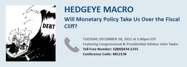 U.S. Monetary Policy & Fiscal Cliff; Expert Call with John Taylor - taylorcall2