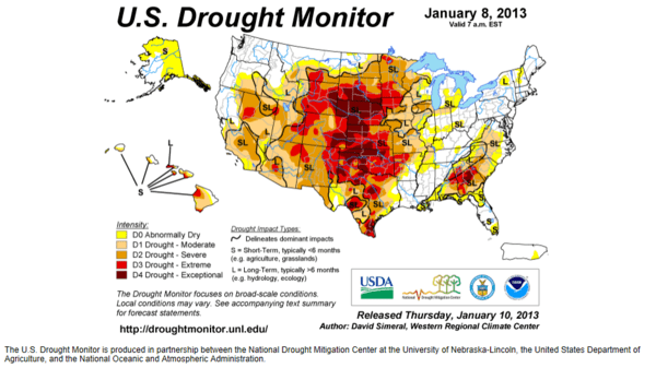 Corn Supplies Get Tighter - Drought 1.8.13
