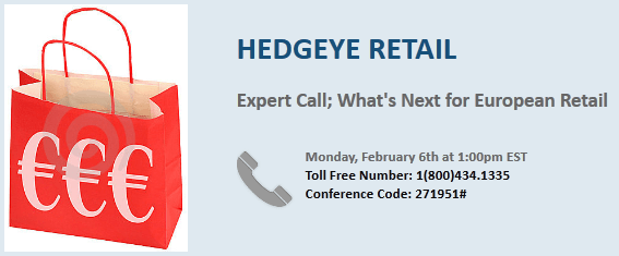 Retail Call TODAY: Look Into Europe Pre-Earnings - Retail europedial