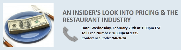 Expert Call; An Insider's Look into Pricing and the Restaurant Industry - restaurant call pricing