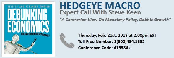 Expert Call with Steve Keen (Contrarian Economic View) - Macro SteveKeenDial