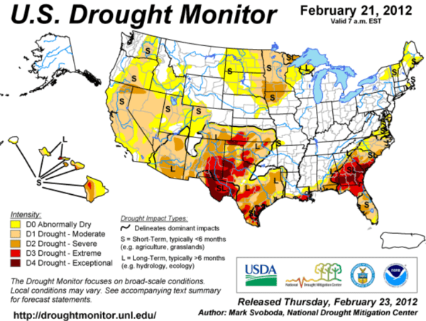 Corn - We Still Think Prices Can go Lower - Drought Monitor 2.21.12