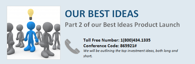 BEST IDEAS CALL TODAY:  Materials & Dial-in Info - Best Ideas 2