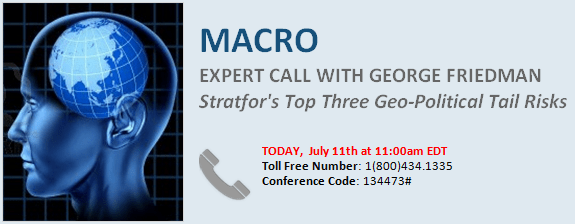 Dial-in: Stratfor's Top Three Geo-Political Tail Risks Featuring George Friedman - friedman.dialin