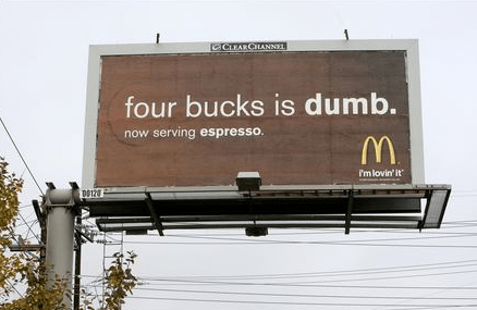 MCD: MCDONALD'S OBSESSION WITH STARBUCKS - 4 bucks is dumb