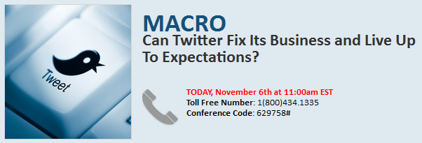 CALL TODAY: Can Twitter Fix Its Business and Live Up To Expectations? - TwitterDialin 11.06.13