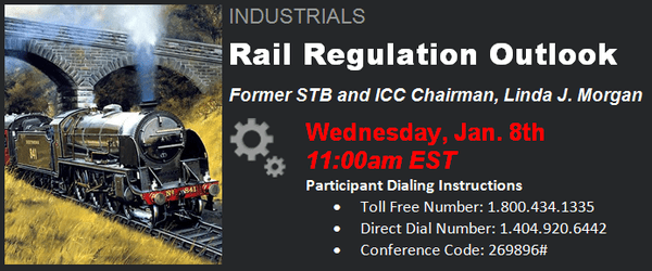 UNP, NSC, CSX:  Rail Regulation Outlook, Former STB and ICC Chairman Linda J. Morgan - nbb1