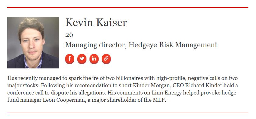 Forbes 30 Under 30: Kevin Kaiser - 30kaiser