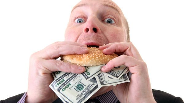 Food: It's What Rich People Eat! - Eating money
