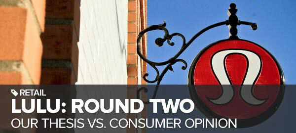 LULU: OUR THESIS VS. CONSUMER OPINION - ROUND 2 (TODAY 11am ET) - lulu