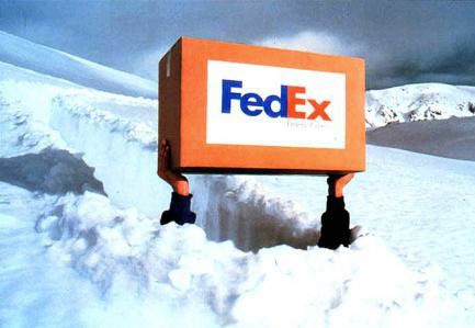 FedEx Weathers Brutal Winter | $FDX - fedex courier services snow small 83175