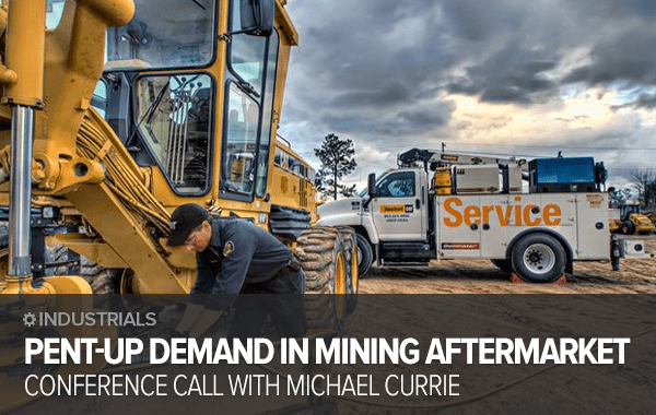CAT, JOY: Pent-Up Demand In Mining Equipment Aftermarket? Call With Michael Currie - cat call