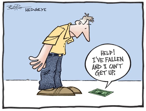 Cartoon of the Day: Dollar Down! - Fallen dollar