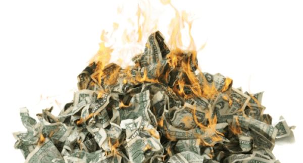 It's The Fed's Fault - Burning Cash
