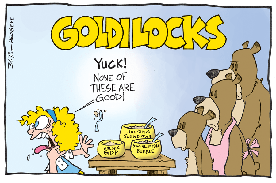 Risultati immagini per goldilocks economy cartoons