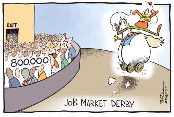 Cartoon of the Day: Jobs Recovery? - job derby 05.02.2014