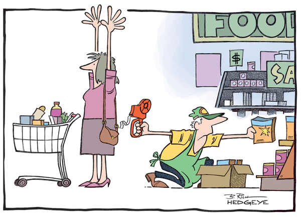Cartoon of the Day: Grocery Store Robbery - Food Prices 5.14.2014