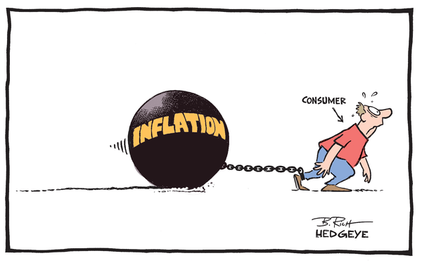 Cartoon of the Day: The Old Inflation Ball and Chain - Consumer cartoon 5.30.2014