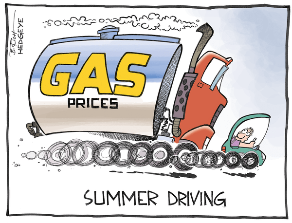 Cartoon of the Day: Summer Driving - Gas cartoon 06.23.2014