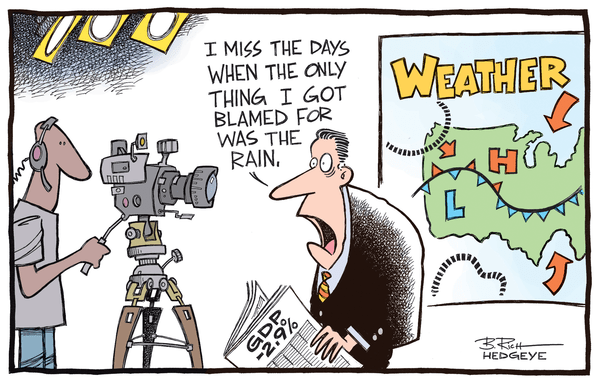 Cartoon of the Day: Blame the Weather(man)? - weather cartoon 6.27.2014