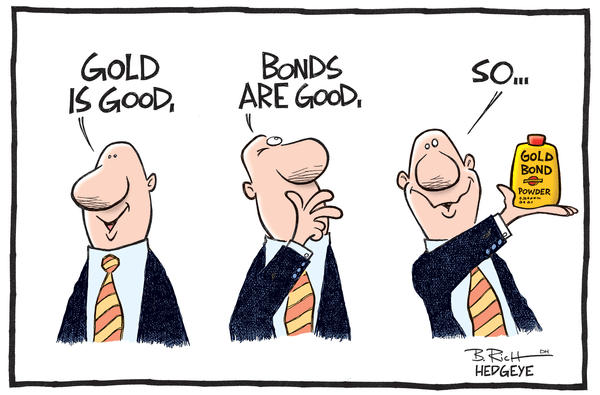 We'll Gladly Take the Other Side of Goldman Sachs on Gold $GLD - Gold Bond cartoon 07.10.2014