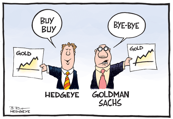 Cartoon of the Day: Hedgeye Gold Bulls vs. Goldman Bears - Gold cartoon 07.15.2014
