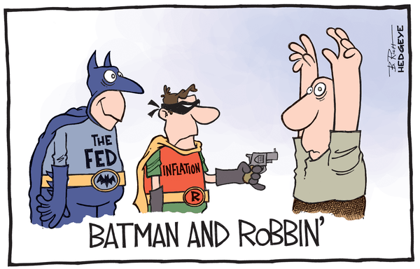 Cartoon of the Day: Put Your Hands Up! - Batman inflation cartoon 07.25.2014