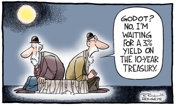 Cartoon of the Day: Waiting for Godot - 3  yield Godot 07.27.2014