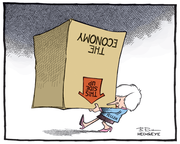 Cartoon of the Day: Boxed In - Yellen This Side Up cartoon