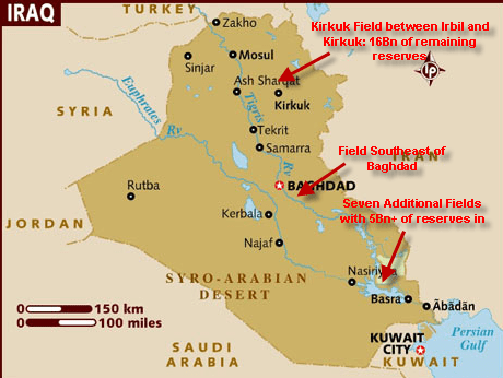 IRAQ: What to Watch - Map of Oil Fields in Iraq