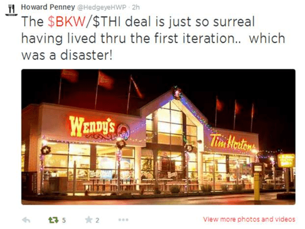 6 Tweets: Hedgeye's Howard Penney Thinks Burger King Is 'Disaster Waiting to Happen' - h4