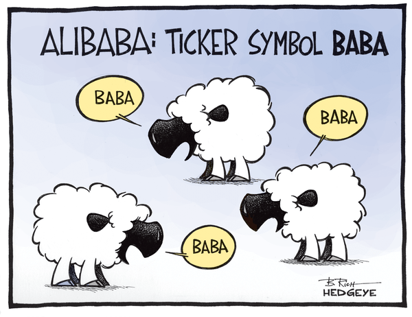 Cartoon of the Day: $BABA Sheep - Alibaba cartoon 09.19.2014