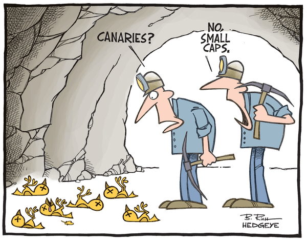 Cartoon of the Day: Small-Cap Canaries? - Small cap canaries 09.23.2014