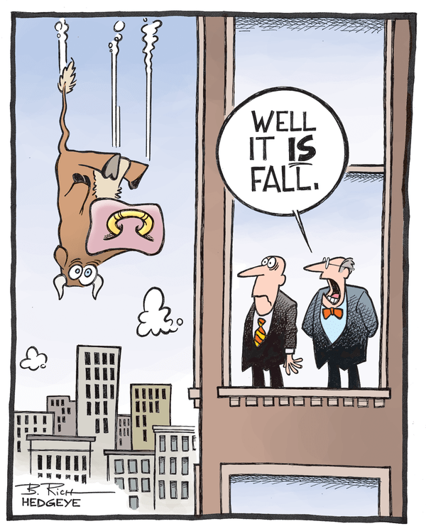 Cartoon of the Day: Falling Stocks - falling bull cartoon 10.13.2014