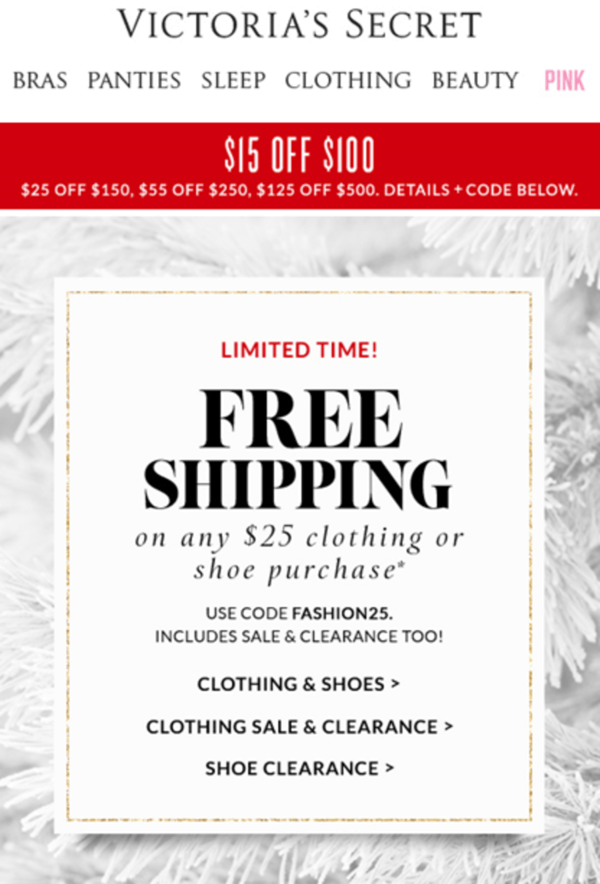 "A Quick Thought on Victoria's Secret ""Free Shipping"" 