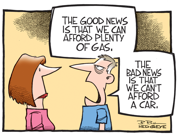 Cartoon of the Day: On the One Hand... - gas price cartoon 11.12.2014