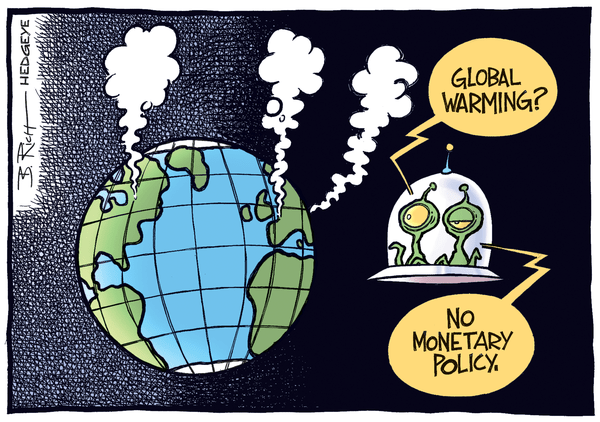 Cartoon of the Day: Curious Aliens - Monetary policy cartoon 11.07.2014