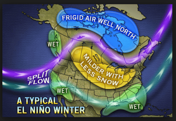 LEISURE LETTER (12/17/2014) - El Nino Map