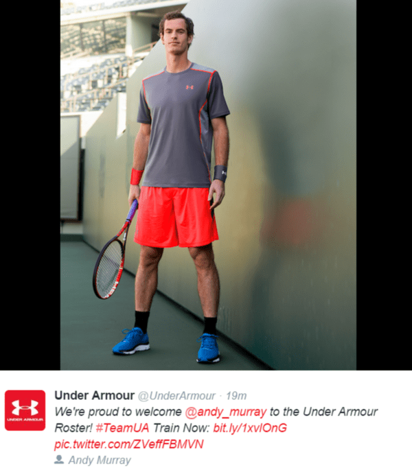 Hedgeye's McGough: Under Armour Scores Win Over Adidas with Andy Murray Deal | $UA - andy