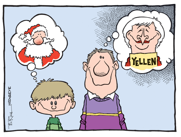 The Night Before - Yellen cartoon 12.23.2014