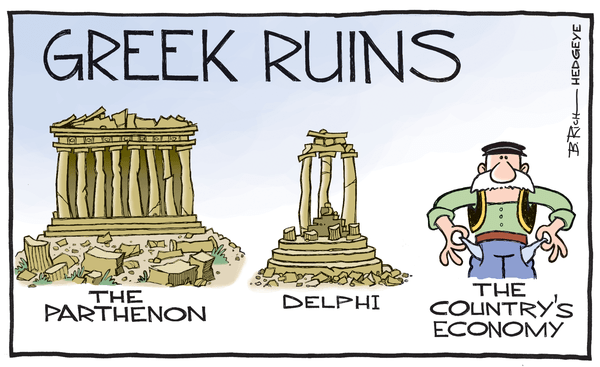 Cartoon of the Day: It's All Greek to Me - Greek cartoon 01.07.2015