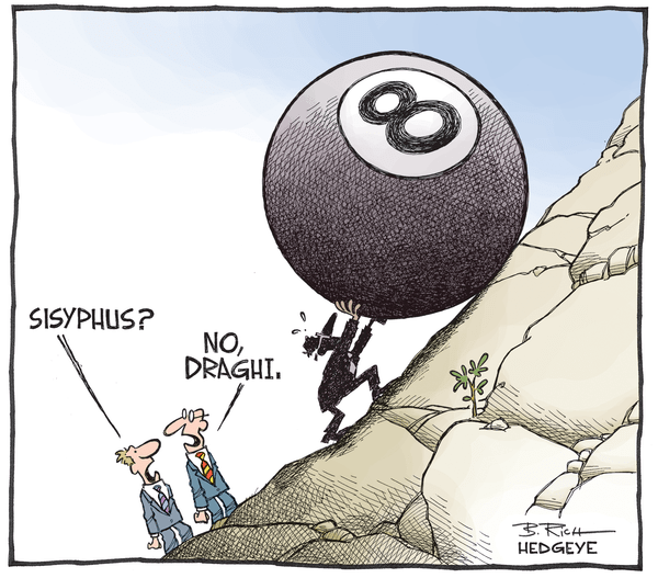 Cartoon of the Day | Mario Draghi: A Modern Day Sisyphus - Sisyphus cartoon 01.22.2015