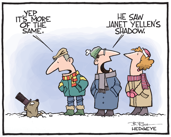 Cartoon of the Day: Groundhog Day for the Fed - Groundhog cartoon 02.02.2015