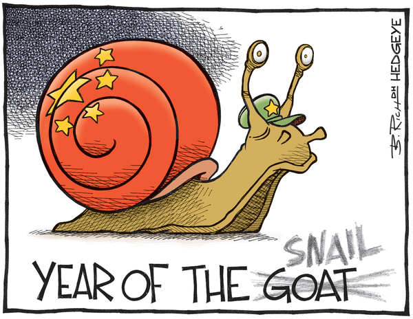 Cartoon of the Day: Beware the China Snail  - China cartoon 02.12.2015