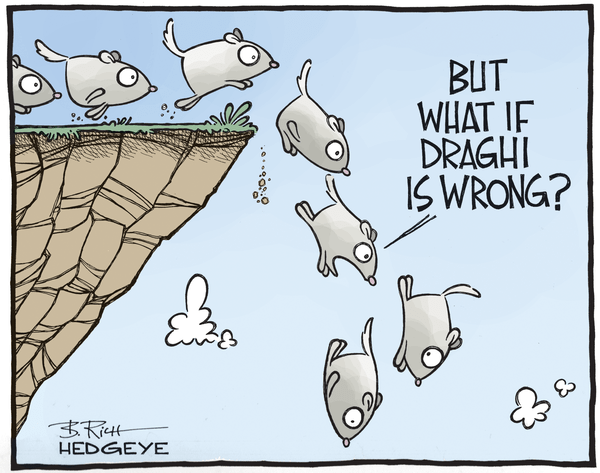 Cartoon of the Day: La Lemmings di Draghi - Draghi cartoon 03.05.2015